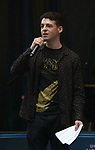 Anthony Boyle performing at the United Airlines Presents: #StarsInTheAlley Produced By The Broadway League on June 1, 2018 in New York City.