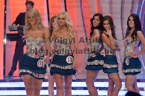 Rap singer SP performs during the joint Beauty Queen contest in Budapest, Hungary on July 14, 2011. ATTILA VOLGYI