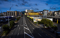 Waterloo Quay at 9am, Friday during Level 3 lockdown for the COVID-19 pandemic in Wellington, New Zealand on Friday, 1 May 2020. Photo: Dave Lintott / lintottphoto.co.nz