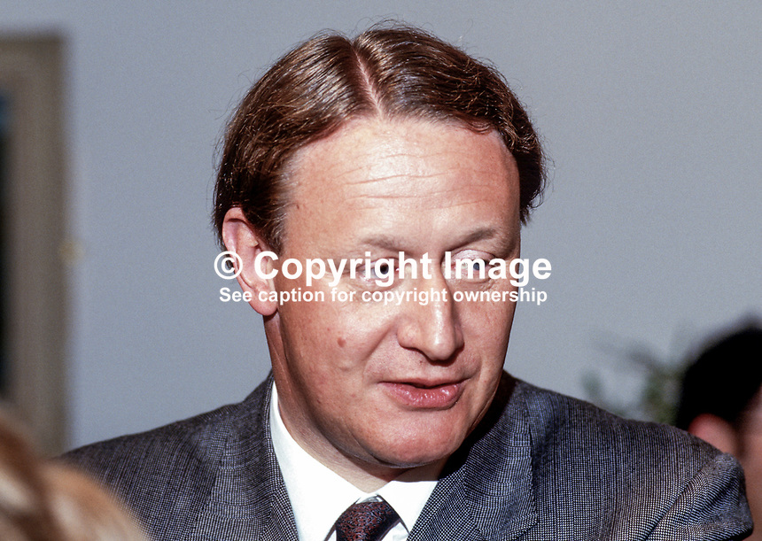 John Stanley, MP, Conservative Party, UK, Minister of State for N Ireland, 19870617JS1..Copyright Image from Victor Patterson, 54 Dorchester Park, Belfast, UK, BT9 6RJ..Tel: +44 28 9066 1296.Mob: +44 7802 353836.Voicemail +44 20 8816 7153.Skype: victorpattersonbelfast.Email: victorpatterson@me.com.Email: victorpatterson@ireland.com (back-up)..IMPORTANT: If you wish to use this image or any other of my images please go to www.victorpatterson.com and click on the Terms & Conditions. Then contact me by email or phone with the reference number(s) of the image(s) concerned.