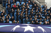 Manchester City manager Josep Guardiola watches the second half from the stands<br /> <br /> Photographer Rich Linley/CameraSport<br /> <br /> UEFA Champions League Quarter-Final Second Leg - Manchester City v Liverpool - Tuesday 10th April 2018 - The Etihad - Manchester<br />  <br /> World Copyright &copy; 2017 CameraSport. All rights reserved. 43 Linden Ave. Countesthorpe. Leicester. England. LE8 5PG - Tel: +44 (0) 116 277 4147 - admin@camerasport.com - www.camerasport.com