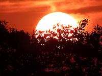 NITEROI, RJ, 17 SETEMBRO 2012 - CLIMA TEMPO NITEROI - Vista do por do sol a partir da cidade de Niteroi no Estado do Rio de Janeiro, nesta segunda-feira, 17. (FOTO: RONALDO BRANDAO / BRAZIL PHOTOP PRESS).