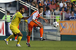 02 May 2015: Carolina's Leo Osaki (JPN) (center) and Tampa Bay's Maicon Santos (BRA) (29). The Carolina RailHawks hosted the Tampa Bay Rowdies at WakeMed Stadium in Cary, North Carolina in a North American Soccer League 2015 Spring Season match. The game ended in a 1-1 tie.