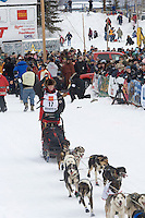 Aliy Zirkle Willow restart Iditarod 2008.
