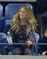 FLUSHING NY- SEPTEMBER 08: Heidi Klum is seen watching Serena Williams Vs Karolina Pliskova on Arthur Ashe Stadium at the USTA Billie Jean King National Tennis Center on September 8, 2016 in Flushing Queens. Credit: mpi04/MediaPunch