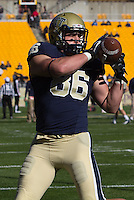 Pitt tight end J.P. Holtz. The Louisville Cardinals defeated the Pitt Panthers 45-35 at Heinz Field, Pittsburgh PA on October 13, 2012.