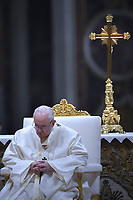 "Pope Francis ""feast of candles"" during Holy Mass for the Solemnity of the presentation of Our Lord at St Peter's basilica at the Vatican. on Febraury 2, 2019"