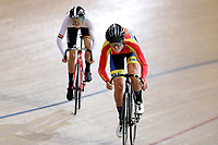 Fisher Black-Finn (R) of Tasman and Reuben Webster of Waikato BOP compete in the U17 Boys Sprint race  at the Age Group Track National Championships, Avantidrome, Home of Cycling, Cambridge, New Zealand, Friday, March 17, 2017. Mandatory Credit: © Dianne Manson/CyclingNZ  **NO ARCHIVING**