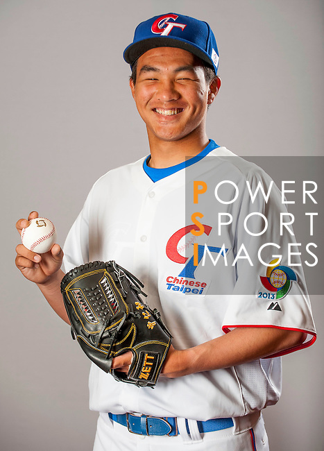 Tseng, Jen-Ho of Team Chinese Taipei poses during WBC Photo Day on February 25, 2013 in Taichung, Taiwan. Photo by Victor Fraile / The Power of Sport Images