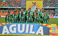 MEDELLÍN - COLOMBIA, 26-01-2019: Jugadores de Atlético Nacional, posan para una foto, antes de partido de vuelta de los cuartos de final entre Atlético Nacional y Once Caldas, por la Liga Águila I 2018, jugado en el estadio Atanasio Girardot de la ciudad de Medellín. / Players of Atletico Nacional, pose for a photo, prior a match of the quarter finals of the second leg between Atletico Nacional and Deportes Tolima for the Aguila League I 2018, played at Atanasio Girardot stadium in Medellin city. Photo: VizzorImage / León Monsalve / Cont.