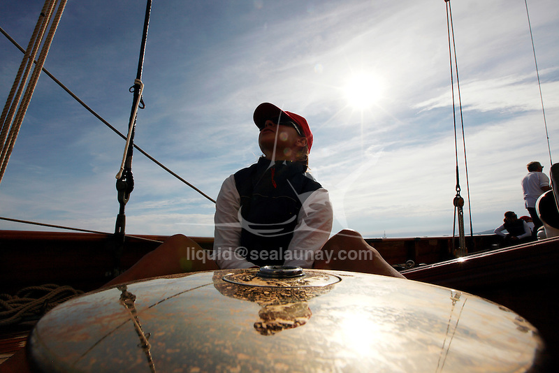 """Onboard Altair during """"Les voiles de saint Tropez"""", France."""