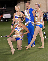 WVU twirlers.  The West Virginia Mountaineers defeated the South Florida Bulls 20-6 on October 14, 2010 at Mountaineer Field, Morgantown, West Virginia.