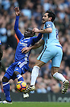 Ngolo Kante of Chelsea tussles with Ilkay Gundogan of Manchester City during the Premier League match at the Etihad Stadium, Manchester. Picture date: December 3rd, 2016. Pic Simon Bellis/Sportimage