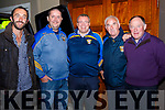 Memebers of the Cordal GAA Club enjoying  the Lisa McHugh concert which raised funds for Cordal GAA Club in Castleisland community centre on Friday night last were l-r: Mike Griffin, Enda Moroney Denis Collins, Charlie Farrelly and Jackie Reidy.