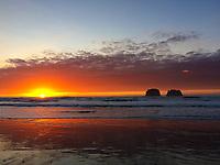 Another beautiful sunset at Twin Rocks / Rockaway beach, Oregon