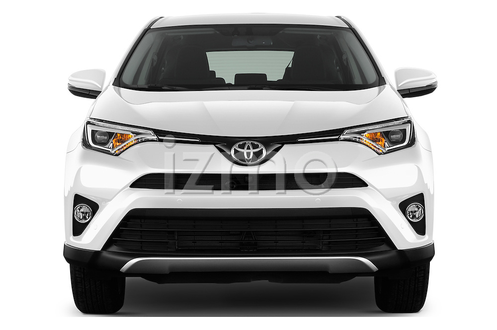 Car photography straight front view of a 2016 Toyota RAV4 Style 5 Door SUV Front View