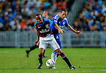 Frank Lampard of Chelsea and Fabian Delh of Aston Villa fight for the ball during the Asia Trophy Final match at the Hong Kong Stadium on July 30, 2011 in So Kon Po, Hong Kong. Photo by Victor Fraile / The Power of Sport Images