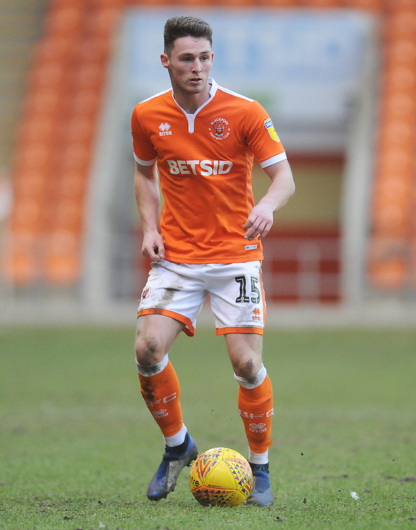 Blackpool's Jordan Thompson<br /> <br /> Photographer Kevin Barnes/CameraSport<br /> <br /> The EFL Sky Bet League One - Blackpool v Walsall - Saturday 9th February 2019 - Bloomfield Road - Blackpool<br /> <br /> World Copyright &copy; 2019 CameraSport. All rights reserved. 43 Linden Ave. Countesthorpe. Leicester. England. LE8 5PG - Tel: +44 (0) 116 277 4147 - admin@camerasport.com - www.camerasport.com