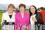 Mary Harris, Pauline Twiss and Jackie Carr Killorglin having fun at the Killarney Races on Tuesday