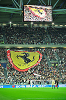 """La stadio Juventus con i tifosi Ferrari.. .Torino 28/5/2013 Juventus Stadium .22esima edizione della Partita del Cuore .Foto Massimiliano Sticca Insidefoto .""""Heart's match"""" charity football match between musicians, actors, former football players and other VIPS"""