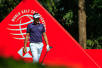 Ian Poulter (ENG) on the 9th tee during the final round at the WGC HSBC Champions 2018, Sheshan Golf CLub, Shanghai, China. 28/10/2018.<br /> Picture Fran Caffrey / Golffile.ie<br /> <br /> All photo usage must carry mandatory copyright credit (&copy; Golffile | Fran Caffrey)