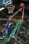 North Texas Mean Green guard Jordan Williams (23) in action during the game between the Jackson State Tigers and the North Texas Mean Green at the Super Pit arena in Denton, Texas. UNT defeats Jackson State 83 to 65...