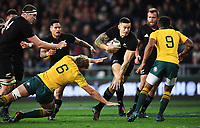 Sonny Bill Williams.<br /> Bledisloe Cup and Rugby Championship test match. New Zealand All Blacks v Australian Wallabies at Forsyth Barr Stadium, Dunedin, New Zealand. Saturday 26 August 2017. © Copyright photo: Andrew Cornaga / www.Photosport.nz