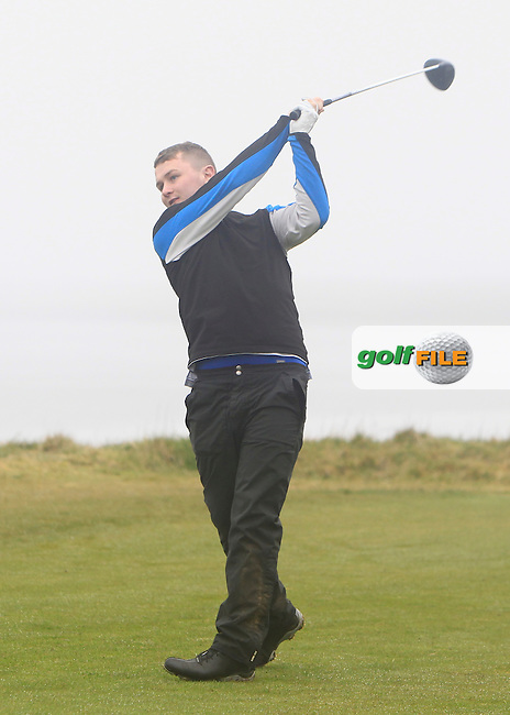 Dale Jackson (Maserreene) during the 36 hole stroke play qualifying on April 4th 2015 for the 2015 West of Ireland Open Championship, Co. Sligo, Golf Club, Rosses Point, Sligo, Ireland.<br /> Picture: Thos Caffrey / Golffile