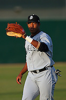 April 28 2009: Thomas Neal of the San Jose Giants before game against the Lancaster JetHawks at Clear Channel Stadium in Lancaster,CA.  Photo by Larry Goren/Four Seam Images