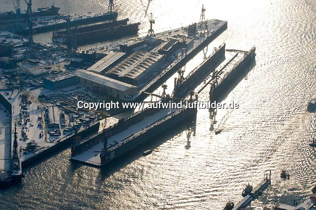 Deutschland, Hamburg, Blohm und Voss, Schwimmdock, Schiffbau, Elbe, Arbeitspause