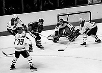Noverber 12, 1986  File Photo-  Hockey match between<br /> Montreal's Canadien and  Quebec's Nordiques