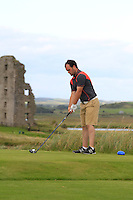 Jordan Hood (Galgorm Castle) on the 13th tee during Round 2 of The South of Ireland in Lahinch Golf Club on Sunday 27th July 2014.<br /> Picture:  Thos Caffrey / www.golffile.ie
