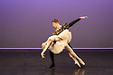 """London, UK. 14.02.2019. Elmhurst Ballet Company present their inaugural performance, """"Origins"""", in the Lilian Baylis Studio at Sadler's Wells Theatre. The piece shown is: The White Swan Pas de Deux form the Swan Lake Suite, Act II, choreographed by Lev Ivanov and Sir Peter Wright CBE. The dancers are: Isla Ghali (Odette) and Samuel Parham (Siegfried). Photograph © Jane Hobson."""