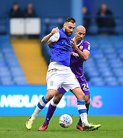 Sheffield Wednesday's Atdhe Nuhiu shields the ball from Bolton Wanderers' Karl Henry<br /> <br /> Photographer Chris Vaughan/CameraSport<br /> <br /> The EFL Sky Bet League Two - Mansfield Town v Lincoln City - Tuesday 6th March 2018 - Field Mill - Mansfield<br /> <br /> World Copyright &copy; 2018 CameraSport. All rights reserved. 43 Linden Ave. Countesthorpe. Leicester. England. LE8 5PG - Tel: +44 (0) 116 277 4147 - admin@camerasport.com - www.camerasport.com