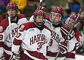 (Hart) Desmond Bergin (Harvard - 37), Jimmy Vesey (Harvard - 19) (Malone) - The Harvard University Crimson defeated the Princeton University Tigers 3-2 on Friday, January 31, 2014, at the Bright-Landry Hockey Center in Cambridge, Massachusetts.