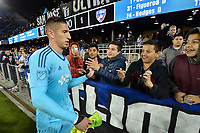 San Jose, CA - Friday April 14, 2017: David Bingham, fans  during a Major League Soccer (MLS) match between the San Jose Earthquakes and FC Dallas at Avaya Stadium.