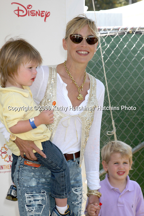 """Sharon Stone & sons Quinn & Laird arriving at the """"A Time For Heroes Celebrity Carnival"""" benefiting the Elizabeth Glaser Pediatrics AIDS Foundation at the Wadsworth Theater Grounds in Westwood , CA on June 7, 2009 .©2009 Kathy Hutchins / Hutchins Photo.."""