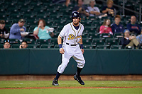 Montgomery Biscuits left fielder Colby Rasmus leads off third base during a game against the Mississippi Braves on April 24, 2017 at Montgomery Riverwalk Stadium in Montgomery, Alabama.  Montgomery defeated Mississippi 3-2.  (Mike Janes/Four Seam Images)