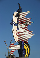 Barcelona Head; Roy Lichtenstein (New York 1923 ? 1997); 1992 ; Concrete and ceramic, 64 feet x 46 feet 7 inches, Barcelona, Catalonia, Spain Picture by Manuel Cohen
