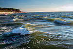 Rowy, 2018.08.04. Zachód słońca nad Morzem Bałtyckim. Widok z falochronu w Rowach. PAP/Jerzy Ochoński