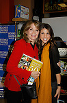 """Cast of Days Of Our Lives - Diedre Hall """"Marlena Evans"""" & Kate Mansi """"Abigail Devereaux"""" sign book """"Days Of Our Lives 50 Years"""" by Greg Meng - author & co-executive producer on October 27, 2015 at Books & Greetings, Northvale, New Jersey. (Photo by Sue Coflin/Max Photos)"""