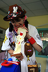 Dr Rodeo is showing with pride her chicken sandwich . Sheffield Children's Hospital.