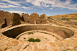Kivas, Pueblo del Arroyo..Chaco Culture National Historical Park