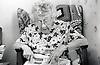 Elderly woman in residential home, Ashfield, Nottinghamshire, UK 1986