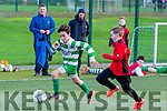 In Action Celtic's Sennin O'Leary and Dynamos Kieran Foran at the Killarney Celtic V Tralee Dynamos U12's League Game at the IT Tralee All weather Pitch on Saturday
