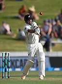 9th December 2017, Seddon Park, Hamilton, New Zealand; International Test Cricket, 2nd Test, Day 1, New Zealand versus West Indies;  Colin de Grandhomme hits a boundary