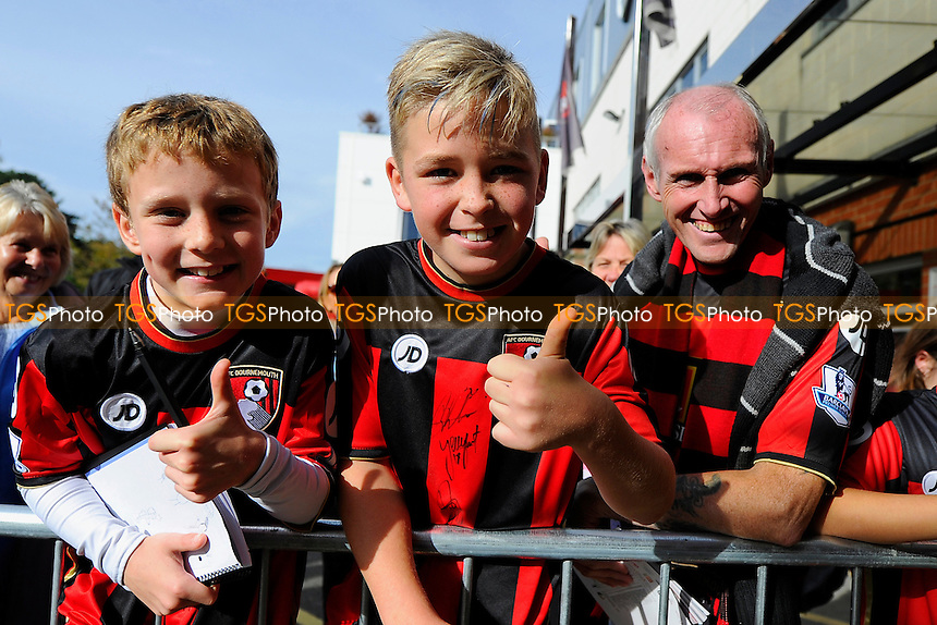 AFC Bournemouth fans during AFC Bournemouth vs Tottenham Hotspur at the Vitality Stadium
