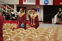 Wednesday, May 17, 2017, at Barnhill Arena before graduation ceremonies of Rogers New Technology High School on the campus of the University of Arkansas in Fayetteville. The graduating class is the first to complete all four years at the school.<br /> <br /> <br /> NWA Democrat-Gazette/DAVID GOTTSCHALK