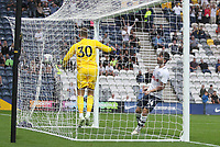 Preston North End's Sean Maguire sees his goal disallowed<br /> <br /> Photographer Mick Walker/CameraSport<br /> <br /> Football Pre-Season Friendly - Preston North End  v Burnley FC  - Monday 23st July 2018 - Deepdale  - Preston<br /> <br /> World Copyright &copy; 2018 CameraSport. All rights reserved. 43 Linden Ave. Countesthorpe. Leicester. England. LE8 5PG - Tel: +44 (0) 116 277 4147 - admin@camerasport.com - www.camerasport.com