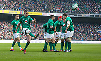 Sunday10th March 2019 | Ireland vs France<br /> <br /> Jonathan Sexton kicks for the corner during the Guinness 6 Nations clash between Ireland and France at the Aviva Stadium, Lansdowne Road, Dublin, Ireland. Photo by John Dickson / DICKSONDIGITAL